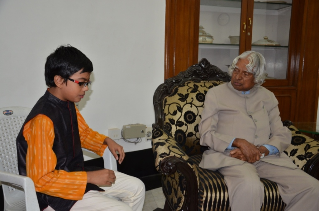 Author with Dr.A.P.J.Abdul Kalam